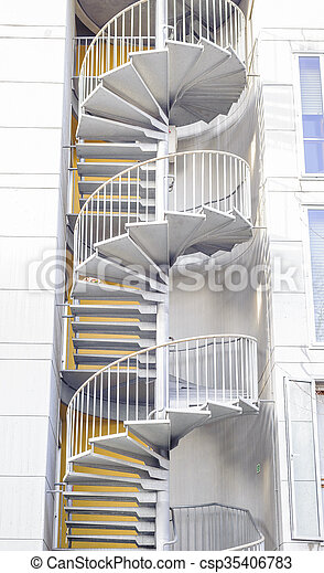 Emergency Staircase. Spiral Staircase.   Csp35406783