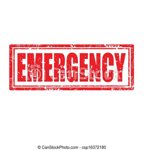 emergency-stamp - csp16372180
