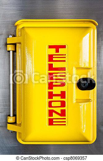 Emergency telephone box - csp8069357