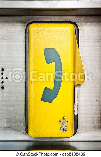 Emergency telephone box - csp8108409