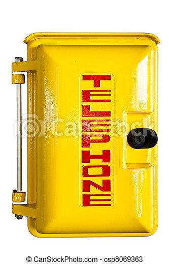 Emergency telephone box - csp8069363
