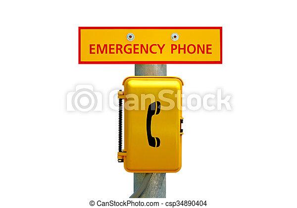 Emergency Telephone Station - csp34890404