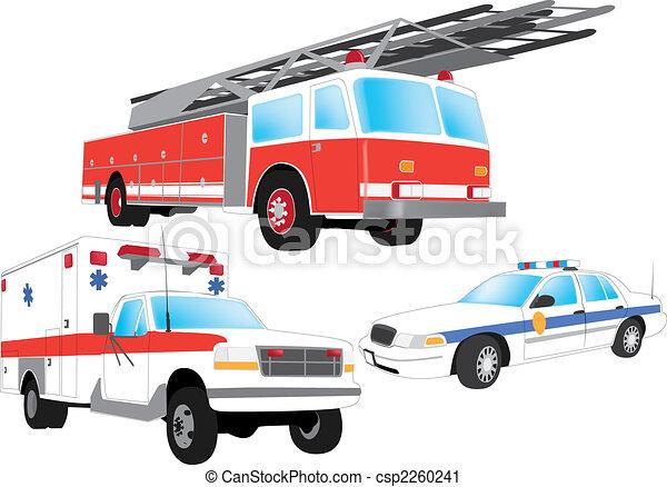 Emergency vehicles - csp2260241