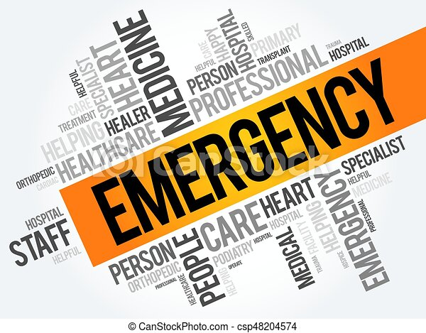 Emergency word cloud collage - csp48204574