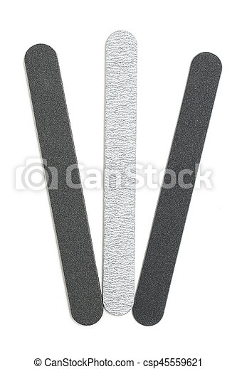 Emery board set. isolated files on white background.