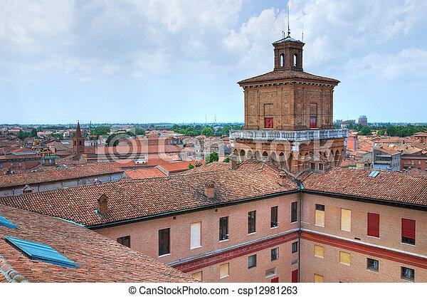 emilia-romagna., este, castle., ferrara., italy. - csp12981263