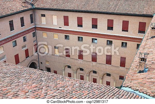 emilia-romagna., este, castle., ferrara., italy. - csp12981317