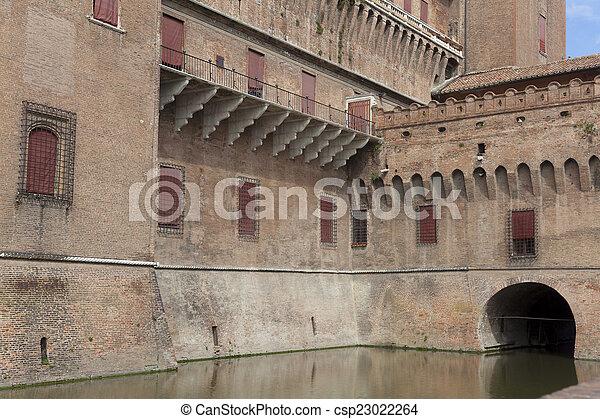 emilia-romagna romagna, 城, イタリア, ferrara - csp23022264