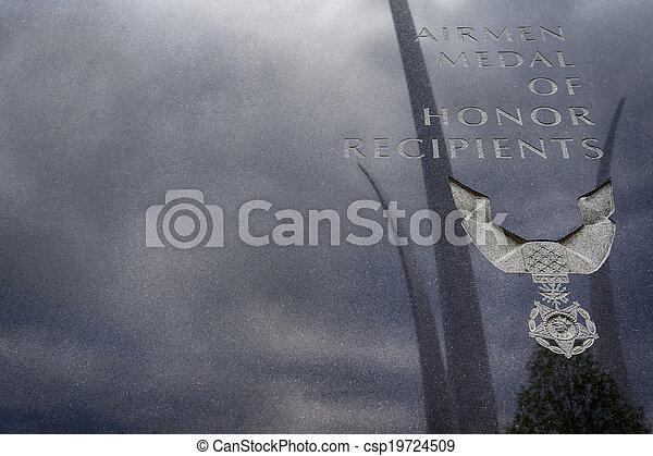 emlékmű, erőltet, bennünket, levegő - csp19724509