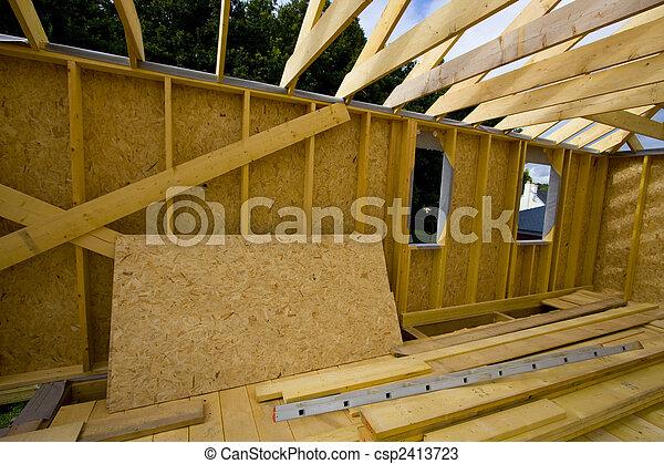 emmagasiner construction, bois, partie - csp2413723