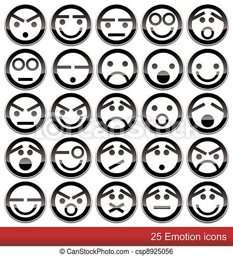 emoção, ícones - csp8925056