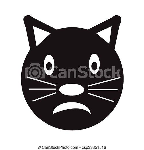 emoção rosto ilustração gato desenho sinal ícone