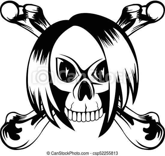 emo skull vector illustration emo girl skull with crossed vector rh canstockphoto com elmo clip art download free elmo clip art download free