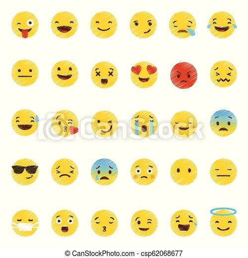 emoji, ベクトル, セット, アイコン - csp62068677