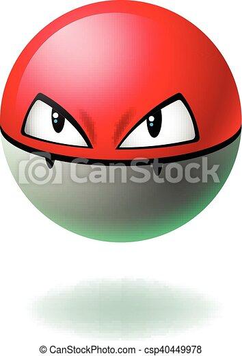 Emoji carattere arrabbiato isolato faccia fondo cartone