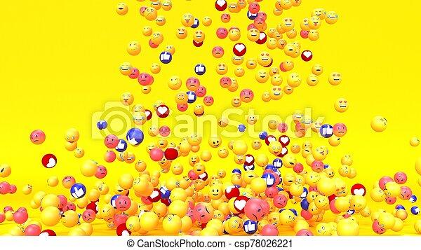 Emoji emoticon character background - csp78026221