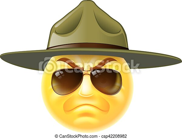 Emoji Emoticon Drill Sergeant - csp42208982