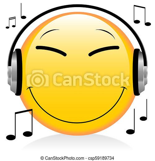 Emoji, emoticon - headphones