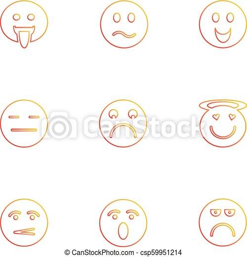 Emoji , emoticons , eomtions , smileys , eps icons set vector