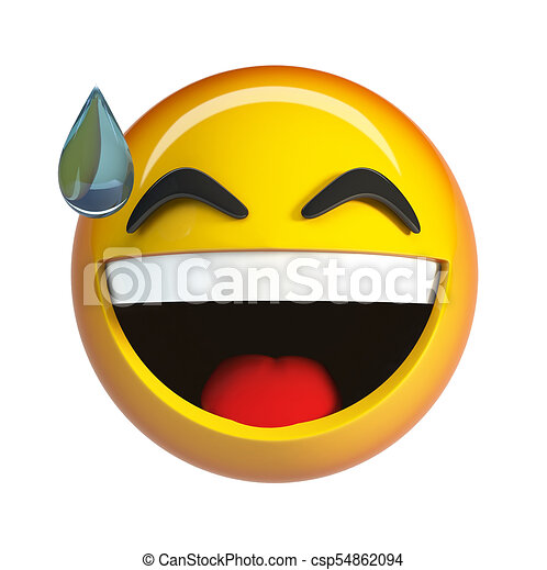 Emoji Joie Lol Figure Larmes Rire Emoticon Emoji Joie Isole Lol Figure Rendre Larmes Rire Fond Blanc Canstock