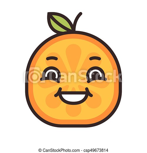 emoji laughing orange smile isolated vector laugh emoji