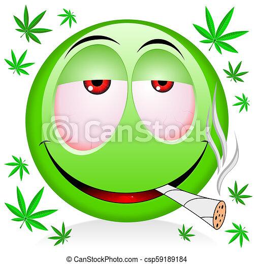 Emoji Smoking Weed