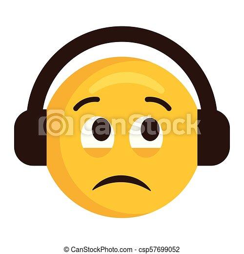 Emoji Triste Fones ícone
