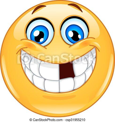emoticon , αναζητώ δόντια  - csp31955210