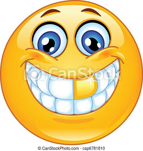 emoticon , κέντρο στόχου δόντια  - csp6781810