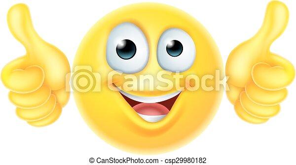 emoticon , πάνω , αντίστοιχος δάκτυλος ζώου , emoji - csp29980182