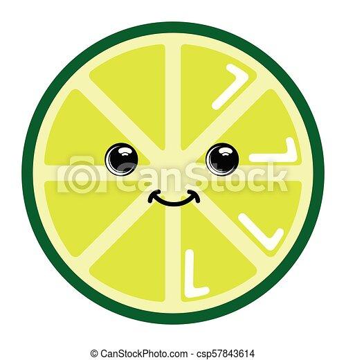 Emoticon かわいい レモン Image イラスト ベクトル デザイン