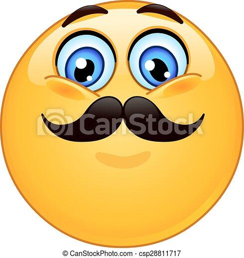 emoticon, 口ひげ - csp28811717