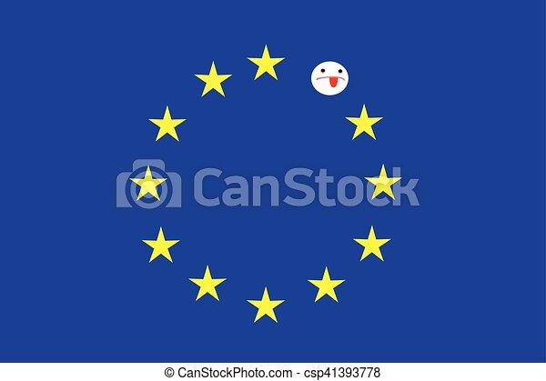 blå flagga med stjärnor