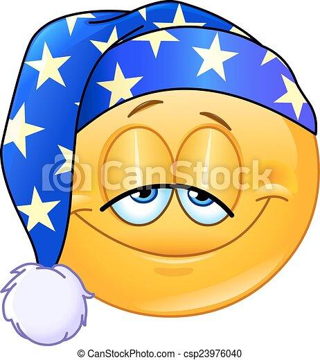 emoticon, buono, notte - csp23976040