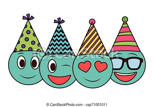 Celebración de cumpleaños de Emoticon - csp71001011