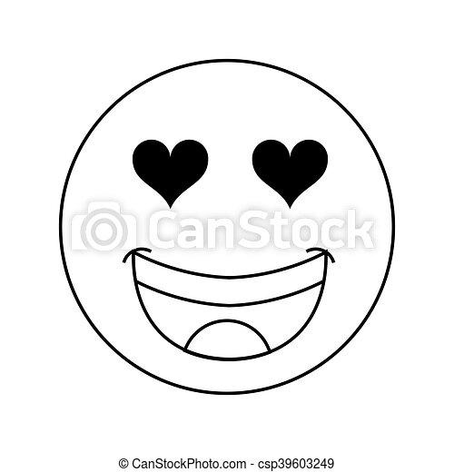 Emoticon Coeur Yeux Icône