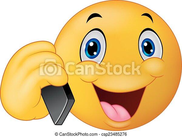 emoticon, conversation, smiley, dessin animé - csp23485276