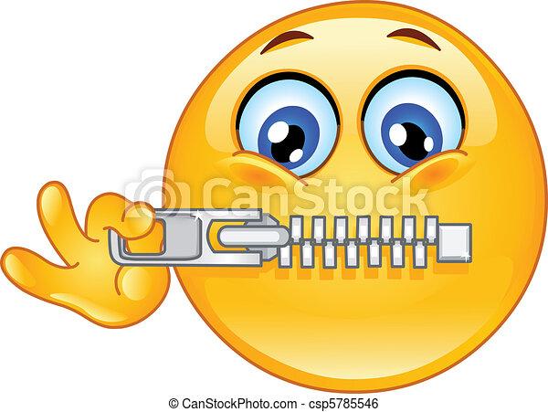 Emoticon Zipper - csp5785546