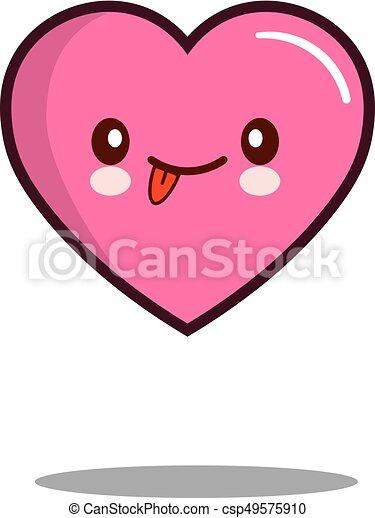 emoticon cute love heart cartoon character icon kawaii flat rh canstockphoto com cute love couple clipart cute love couple clipart