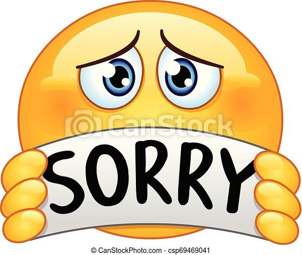 emoticon, désolé, signe - csp69469041