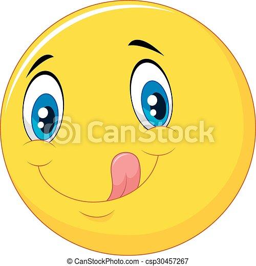 emoticon, dessin animé, délicieux - csp30457267