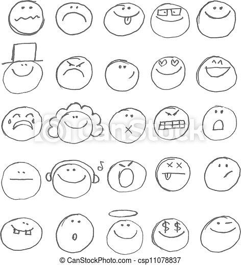 emoticon, doodles - csp11078837