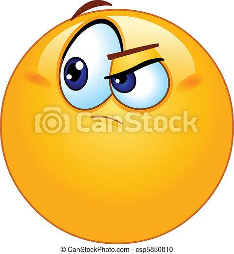 emoticon, duvidoso - csp5850810