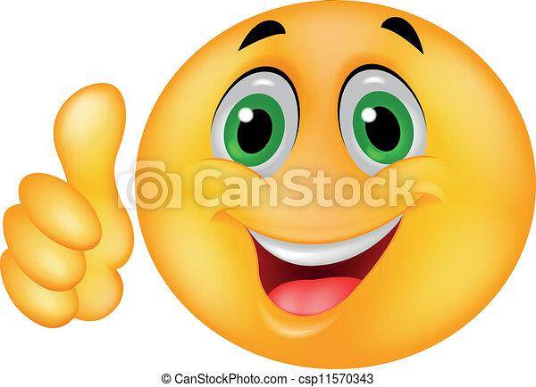 Cara de emoticono sonriente - csp11570343