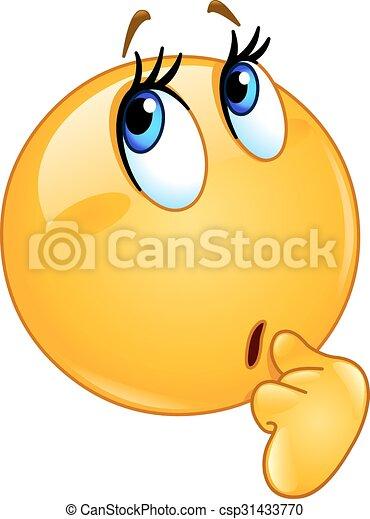 emoticon, femmina, meraviglia - csp31433770