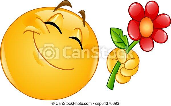 emoticon giving flower happy emoticon giving a flower puppy clip art images poppy clip art images