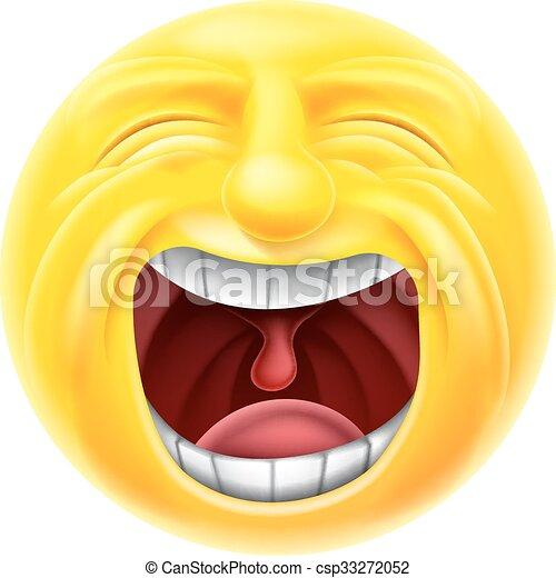 Emoticon grida emoji emoticon smiley carattere faccia grida