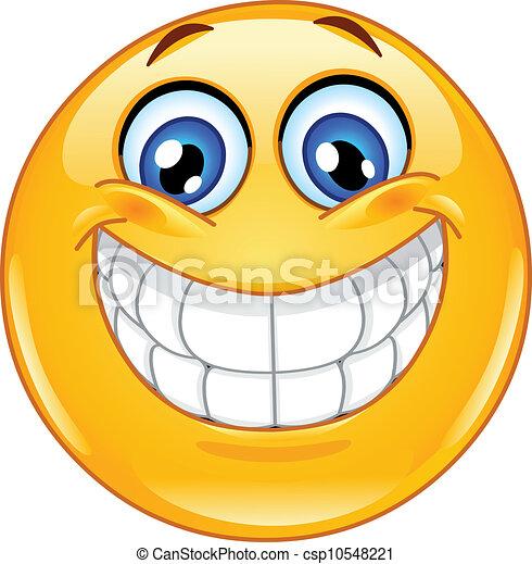 Großes Lächeln Emoticon - csp10548221