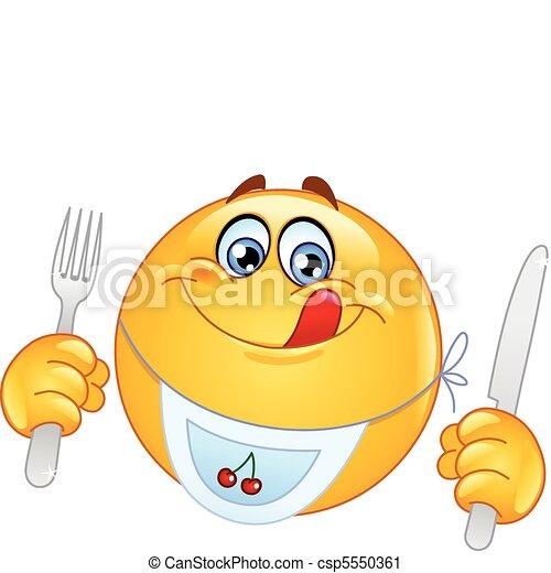 emoticon, hambriento - csp5550361