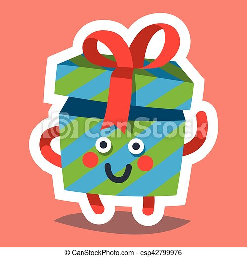 vector emoticon icon for happy new year theme happy gift csp42799976